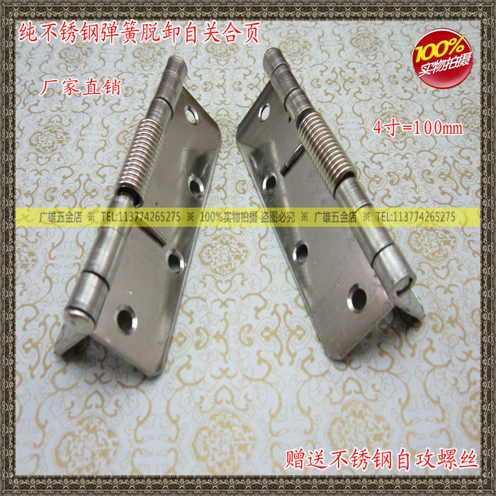 Cheap Stainless Steel Spring Hinge 4 Inch Self Closing