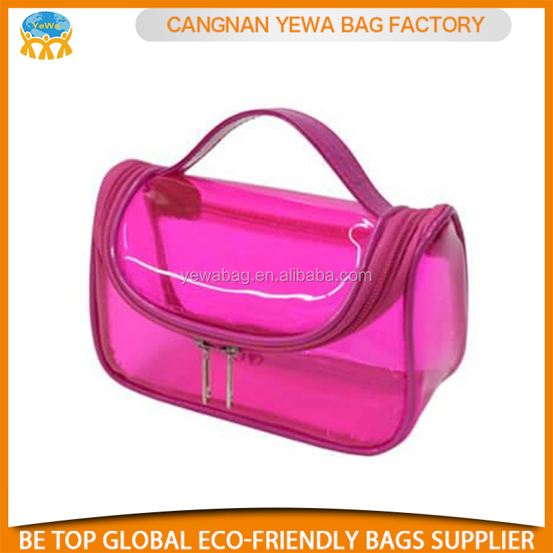 Wholesale customized clear pvc cosmetic zipper bag
