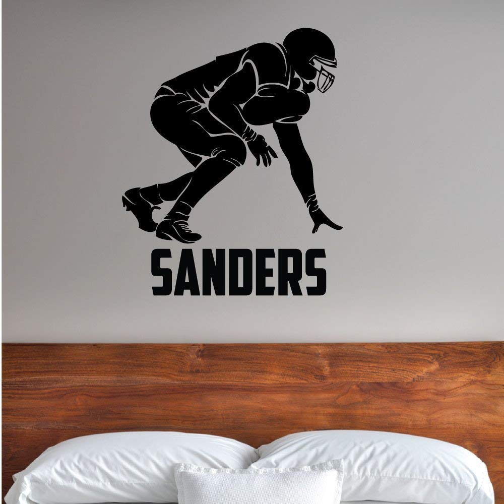 Custom Boys Name Football O Line. -0286- Personalized Boys Football Wall Decal - Football Theme Wall Decal - Sports Decal - Gridiron - Offensive - Defensive - Set