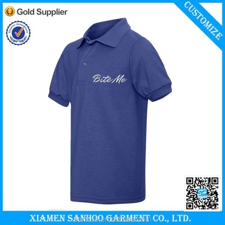 Cheap custom embroidery polo shirt cotton wholesale
