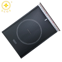 Wholesale envelope customized printed matte black metallic foil wrap bubble mailers with logo