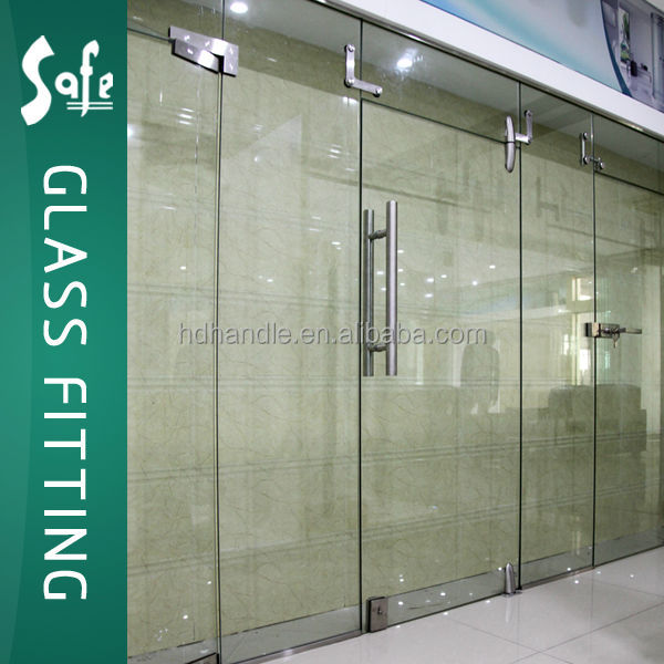 Sus304 interior frameless swing glass door double or single buy glass door interior door swing - Swinging double doors interior ...