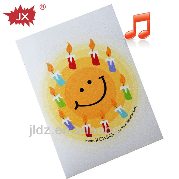 Birthday Greeting Card With Song For Gift Happy Cards Music