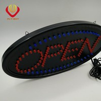 hot selling new product led OPEN/ATM/SALE sign with PVC frame and MDF board for shops advertising