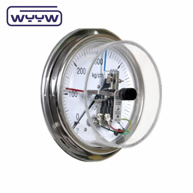 analog manometer. electric contact gauge liquid filled pressure manometer analog
