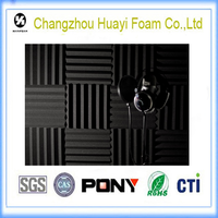 5cm thickness wave acoustic foam recording studio soundproofing