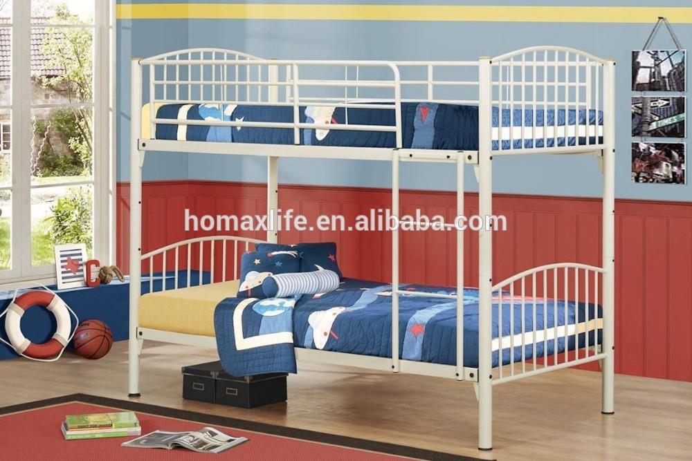 Forjado moderna dos pisos cama litera de metal db-4718-Camas de ...
