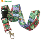 Boeing Lanyard Parts Custom Sublimation CBD Aircraft Buckle Lanyard Cartoon Anime