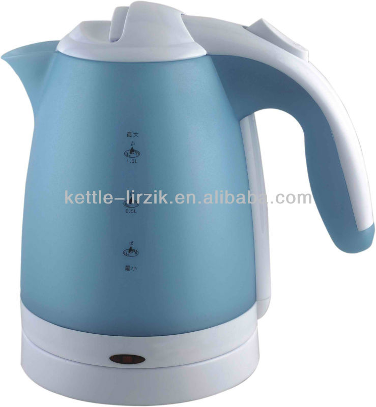 2012 Rotating Plastic Kettles With LED Light hot sale popular pp electric kettle