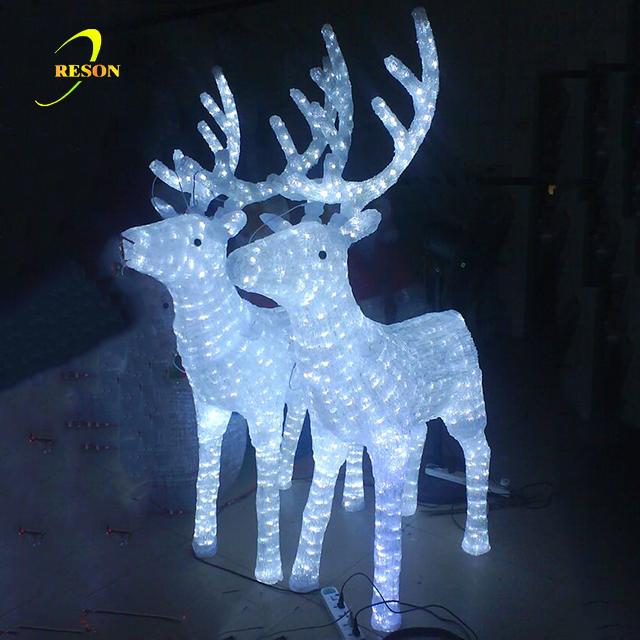Outdoor Christmas Led Reindeer Sculpture Lights