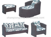living room rattan indoor sofa/design wicker sofas