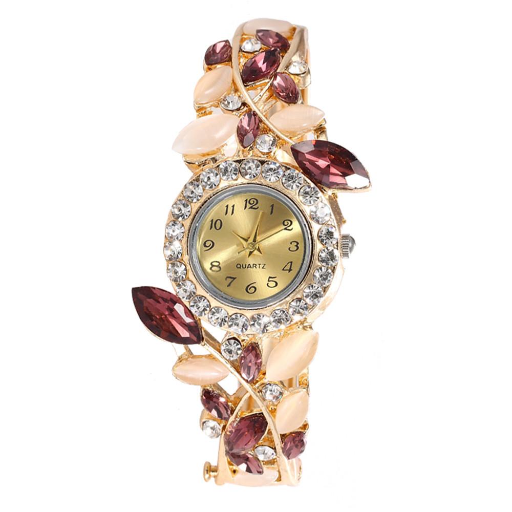 Women Round Full Diamond With Bracelet Watch Movement Bracelet Clasp Wrist  Watch Montre Femme 2019 Luxe