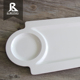 Wholesale Eco-friendly Rectangle dinnerware set plastic tray indian thali plates