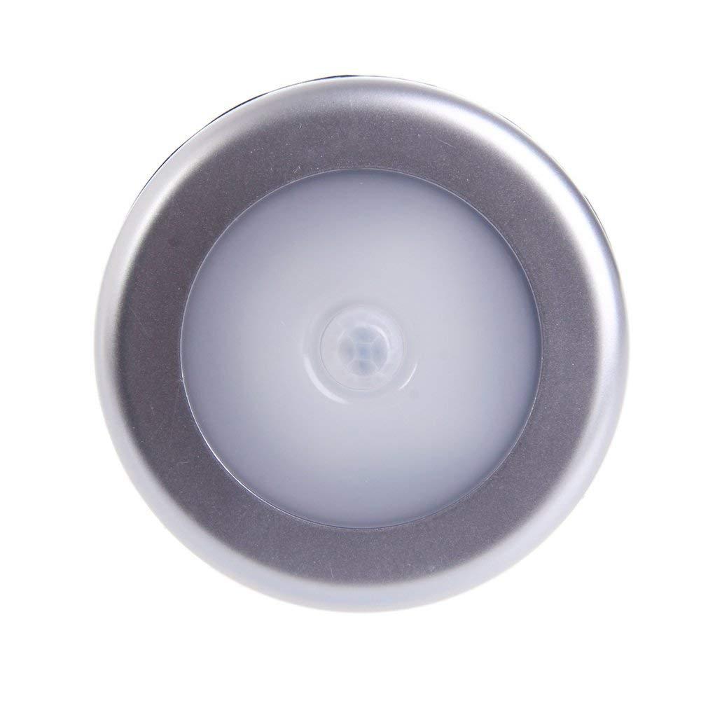 Datuun,6 LED 4.5V Wireless PIR Motion Sensor Light Wall Cabinet Wardrobe Lamp