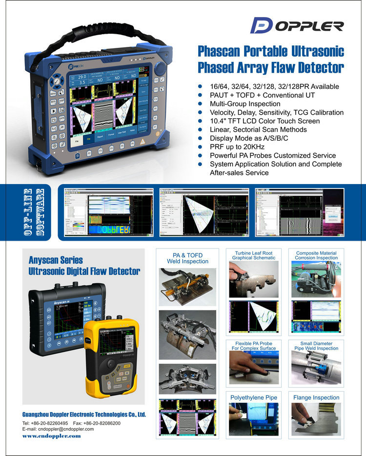 Phased Array Ultrasonic Weld Test Equipment Testing View
