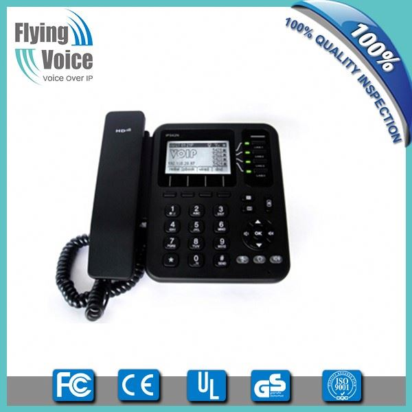 Factory price fixed oem ip phone 4 line wifi sip phone IP542N with POE for soho/office