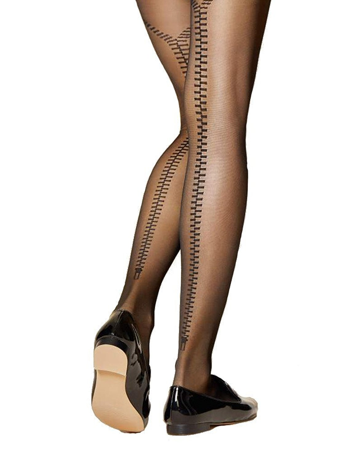 3aafd9016 Get Quotations · Fiore Fidele Seamed Zip Tights