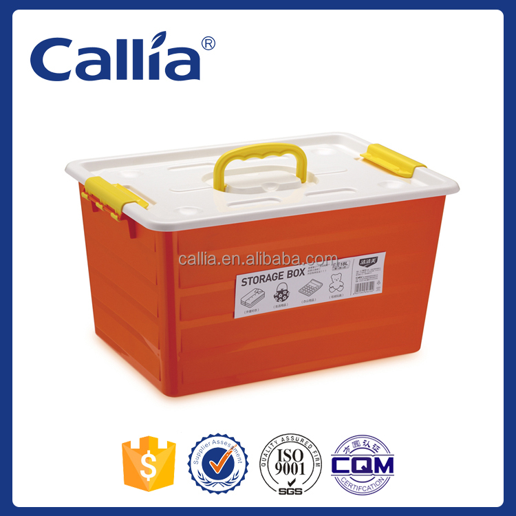 Multi Function Colored Plastic Storage Box with Handle