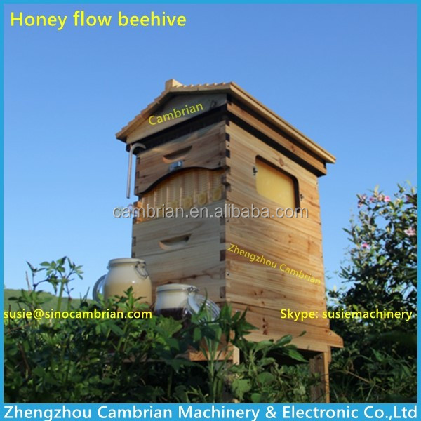 Fedex shipping outflow honey beehive/automatic flow honey bee hive with paypal accept