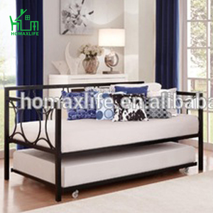 Modern metal iron day bed trundle bed for sale