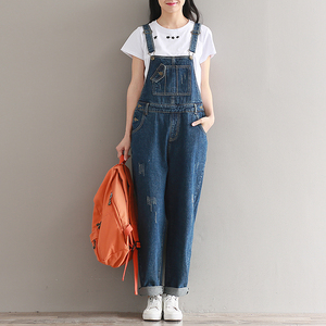 YSMARKETBrand Jeans Women Jumpsuit Denim Romper Overalls Casual Long Trousers Vaqueros Basic Denim Pants Wide Leg Rompers Female