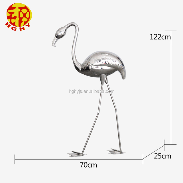 Abstract the Flamingo Hotel Club outdoor stainless steel wind pool lucky art sculpture garden floor decoration