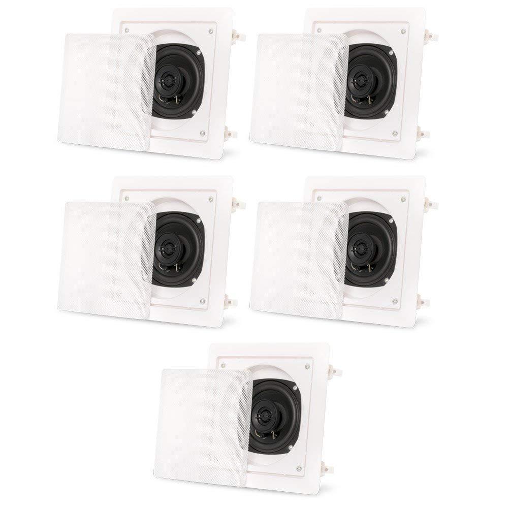 Acoustic Audio AS6S In Wall 5 Speaker Set 2 Way Home Theater 1000 Watt AS6S-5S