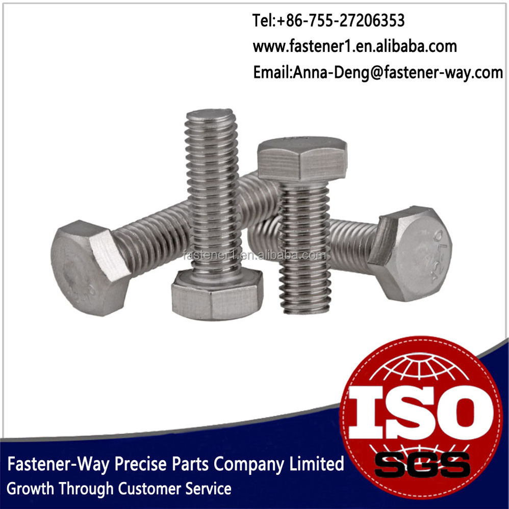 A2-70 18-8 Stainless Steel Precision Hardware M3 Hex Bolt