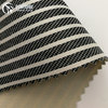 navy blue and white strip jacquard fabric with pvc foam for bag