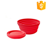 wholesale outdoor silicone foldable collapsible bowl with lid