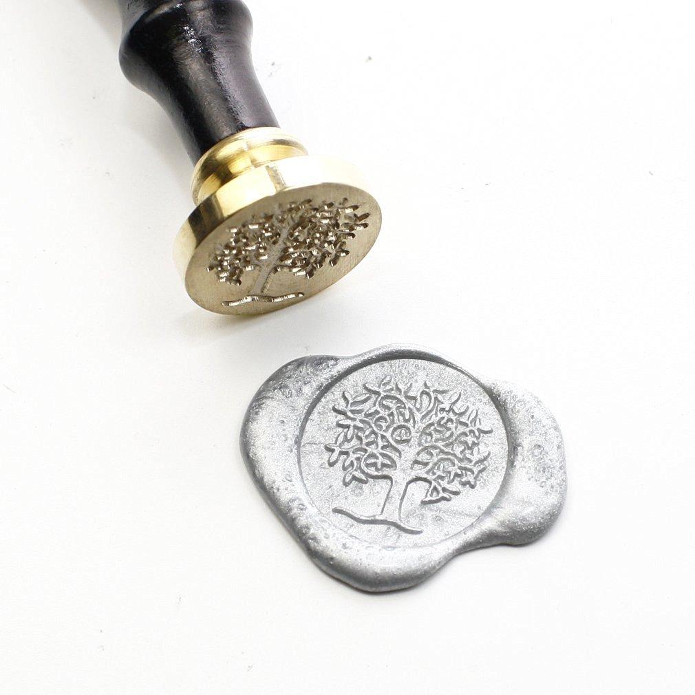 Tree wax Seal Stamp Stamp, Sealing Stamp Set, Seal Wax Stamp, Wax Seal, 25mm Initial Sealing Stamp