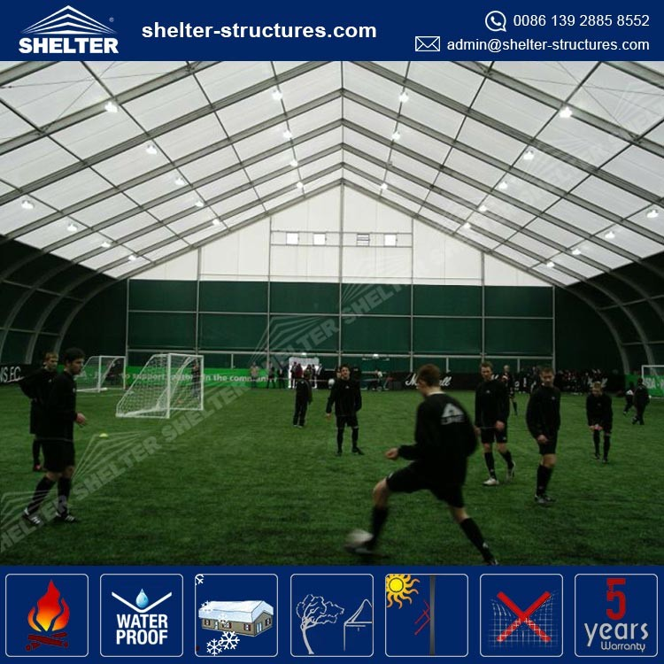 Good quality durable and long life span with the professional production team in Shelter GZ football shelter tent