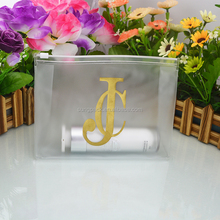 Custom Design PVC Frosted Cosmetic Bag for Travel Toiletry Bag Plastic Make Up Pouch Packaging Bag with Ziplock