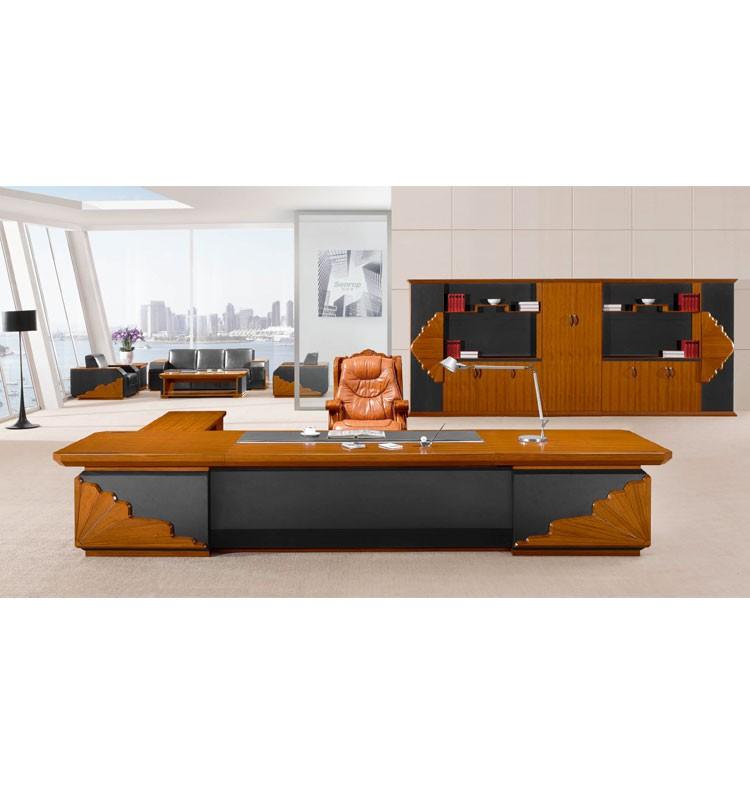 2017 Latest Modern Executive Office Desk Wooden Veneer