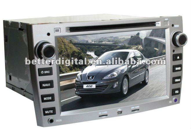 "7"" in car dvd player peugeot 407/408"
