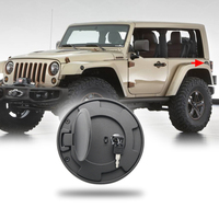 Locking fuel gas tank cap cover gas cap fuel filler cover with key fit for Jeep Wrangler JK 07 up 2/4 Door