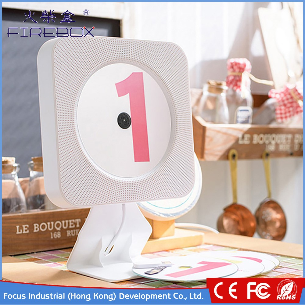 Factory Direct Wholesale creative white operate conveniently HI-FI Bluetooth 4.2 mini boombox speakers portable cd player