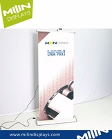 Wide base Electric roll up banner stand