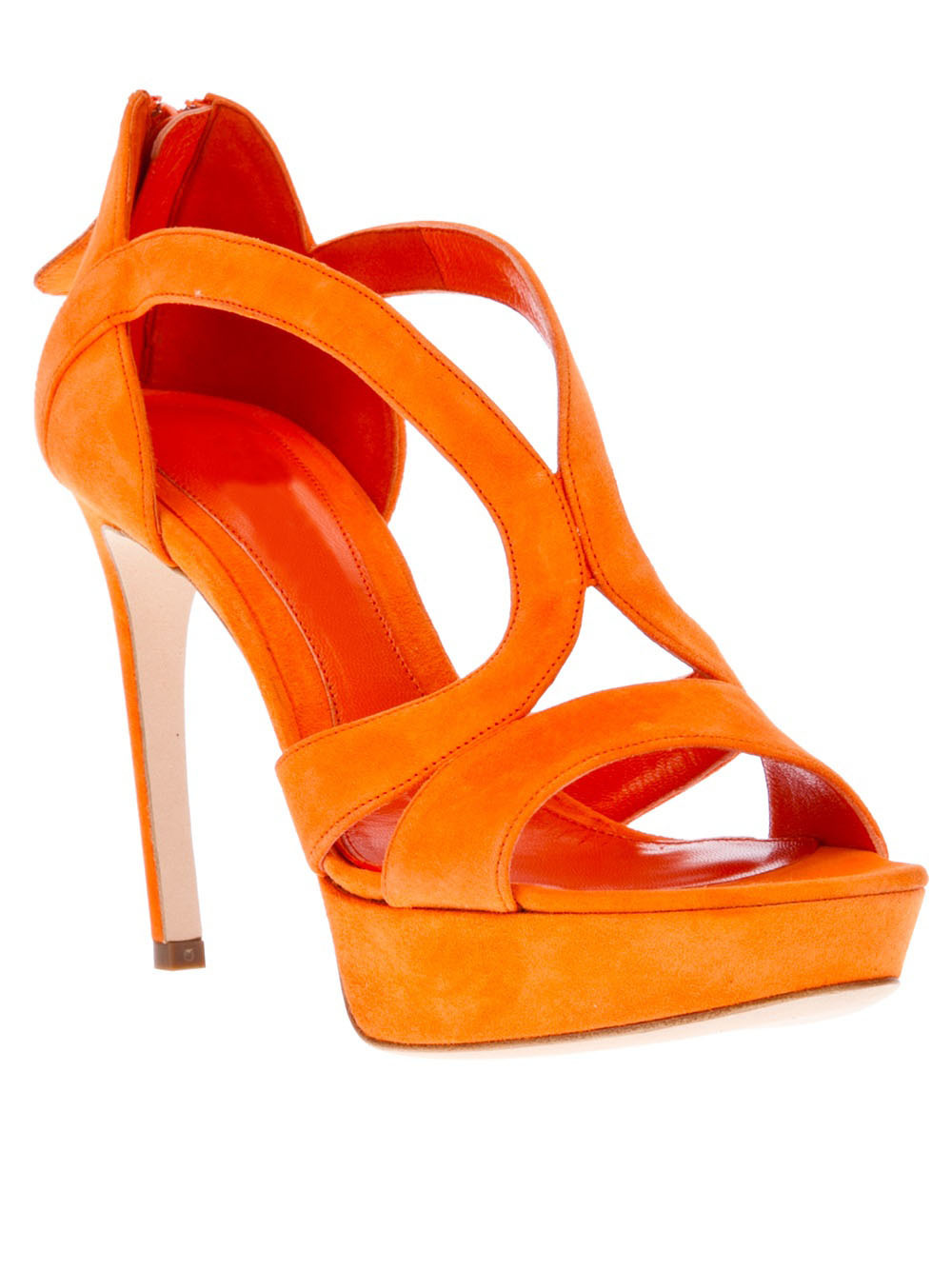 Orange Wedge Shoes Uk