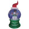 210cm/7ft inflatable snowman on flash ball for christmas decoration