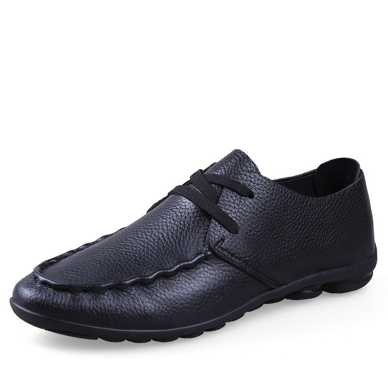Top Quality 2015 Men's Genuine Leather Casual Loafers Fashion Men's Lace-Up Flats Shoes Outdoor Driving Shoes For Spring AL175