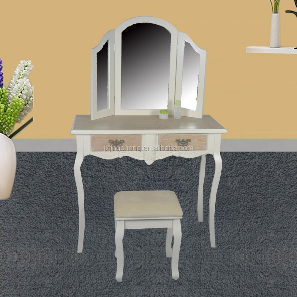 двойной ящиков из груди деревянный туалетный столик с шкафтщеславие комод с 3 зеркала Buy туалетный столиктщеславие комод с зеркаломтуалетный