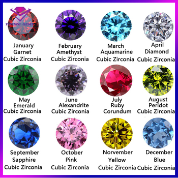 Gemstone Cz Stone And Color Chart For Sale Buy Colorful