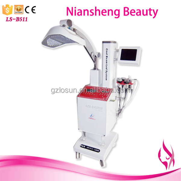 Professional OEM hot 7 color LED / PDT therapy skin care machine