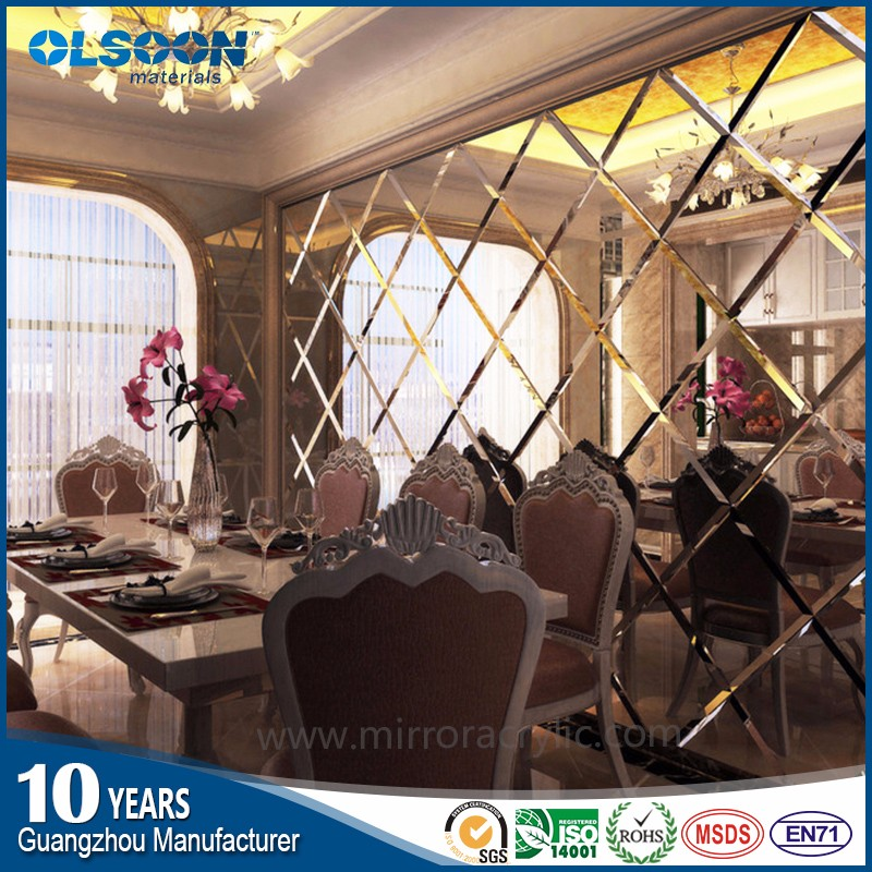 Acrylic decoration material manufacture Olsoon decorative acrylic mirror sheet mirrors wall