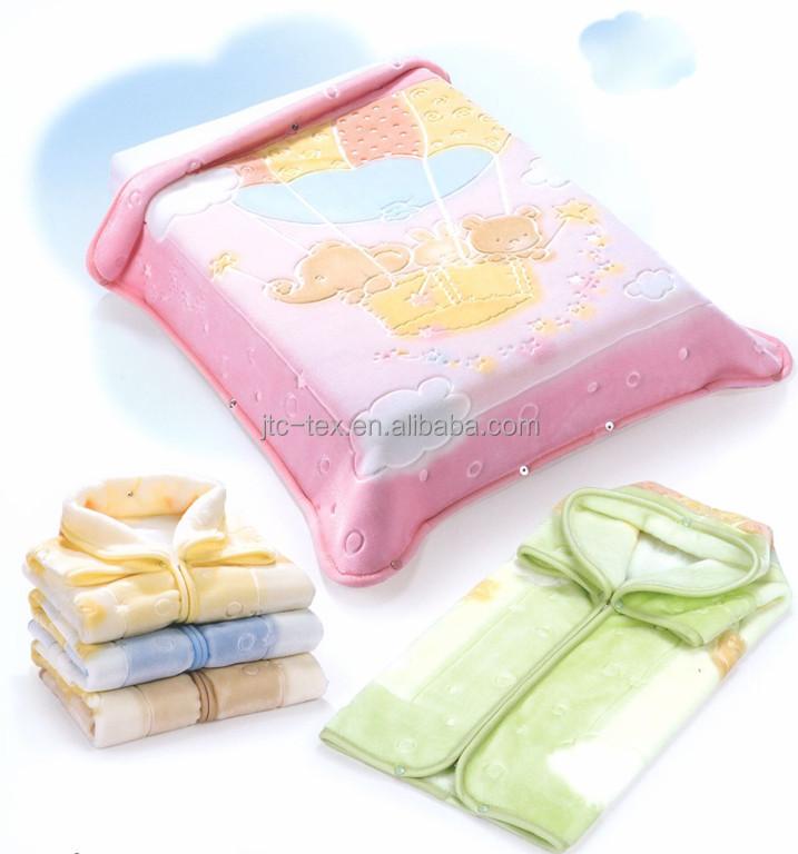 couverture bébé polyester 100% Polyester De Bonne Qualité Doux Coréen Vison Rachel Polaire  couverture bébé polyester