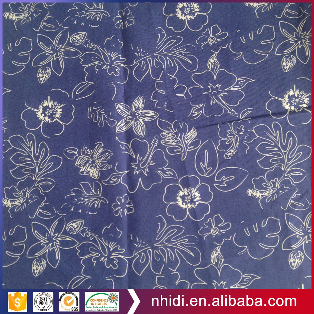 OEM dyed ground carded combed cotton reactive printed fabric