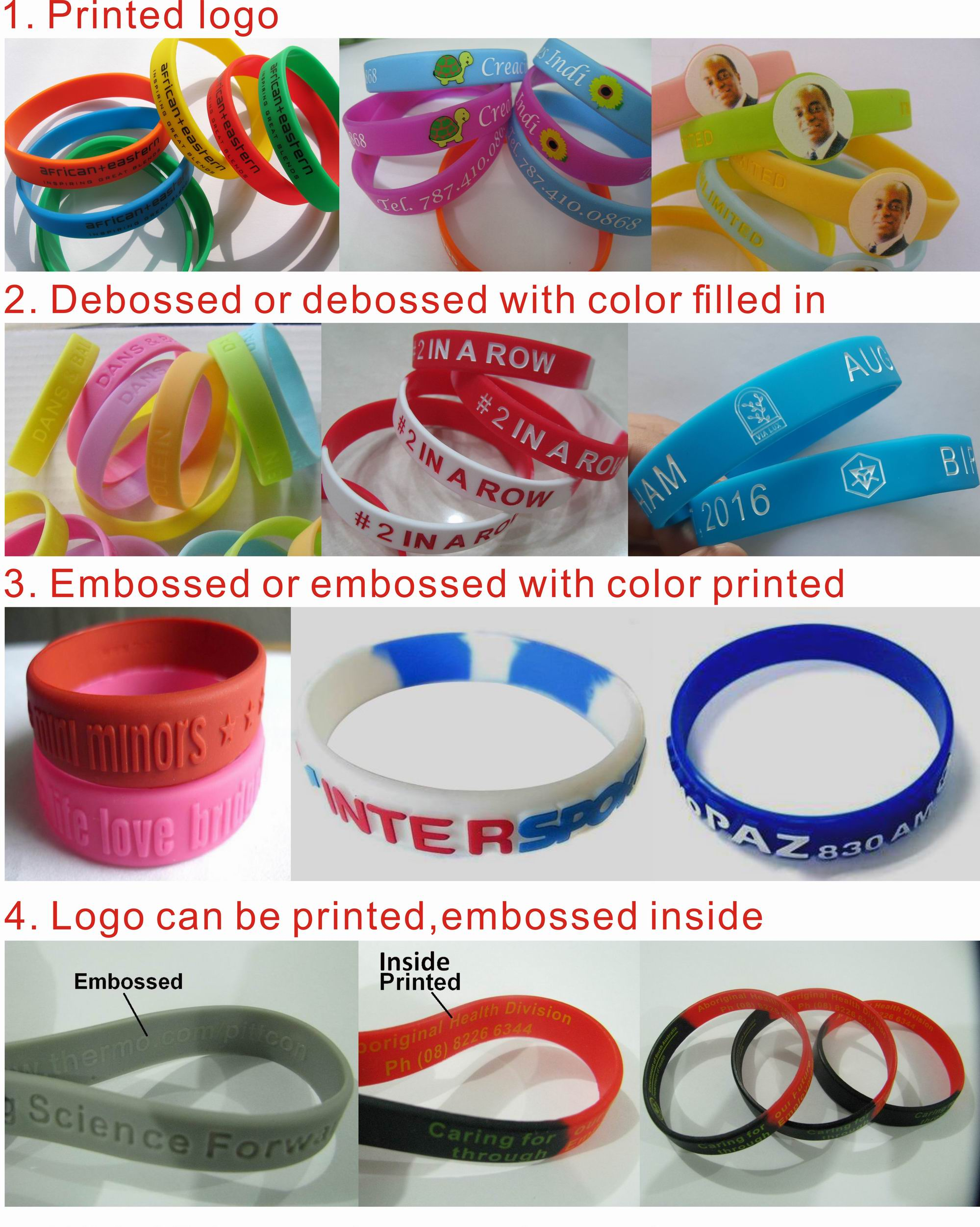 Custom Silicon Festival Bracelet Double Layer Silicone Wristband Customize Design Promotional Bracelet