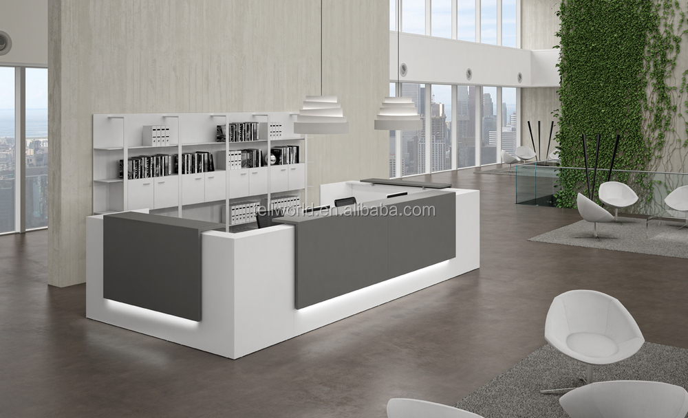Office Furniture Modern Front Desk Simple Design Reception Counter Table