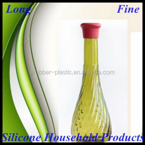Easy Operation FDA Approved Silicone Wine Bottle Plug